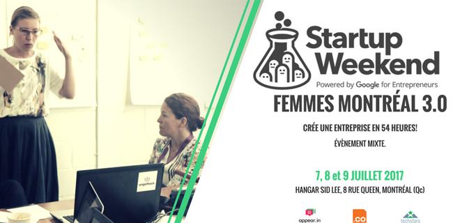 Startup Weekend Femmes 3.0 Montreal